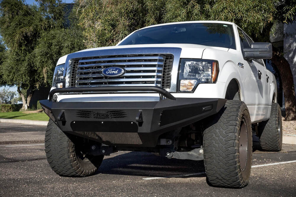 Addictive Desert Designs F-150 HoneyBadger Front Bumper w/ Lockable Tool Boxes (2009-2014)