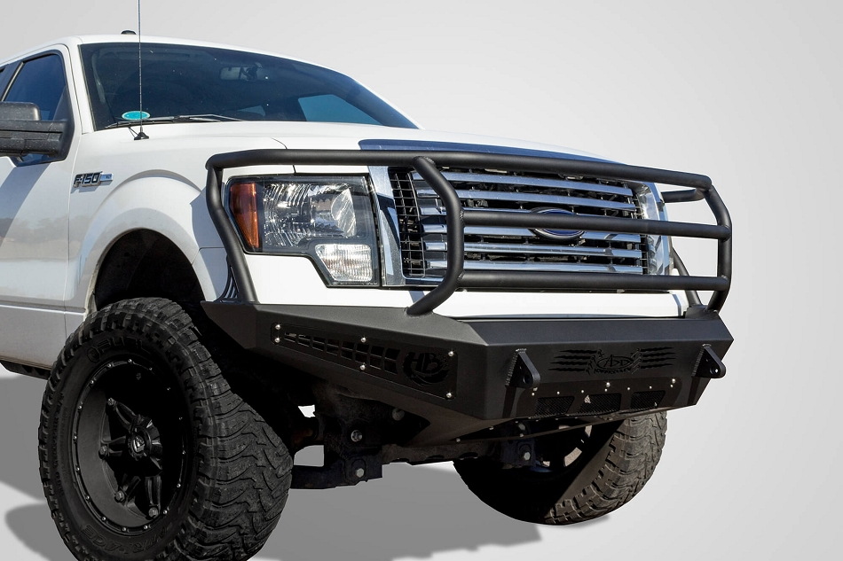 Addictive Desert Designs F-150 Honey Badger Rancher Winch Mount Front Bumper w/ Ecoboost (2009-2014)