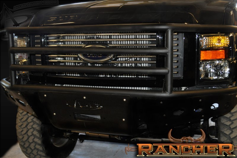 Addictive Desert Designs F-250 F-350 Rancher Winch Mount Front Bumper (2008-2010)