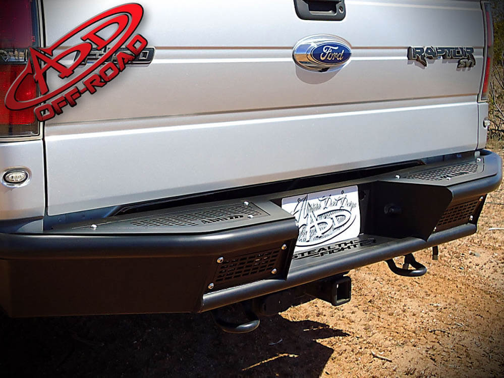 Addictive Desert Designs F-150/Raptor Stealth Fighter Rear Bumper w/ Backup Sensor Cutouts (2009-2014)