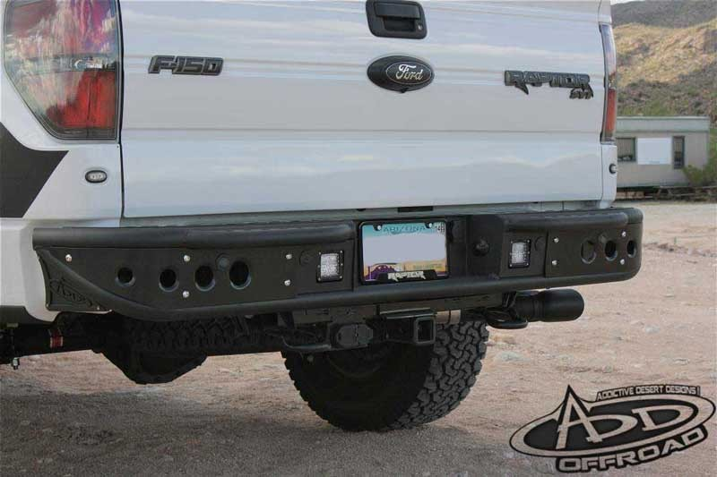 Addictive Desert Designs F-150/Raptor Venom Rear Bumper w/ Backup Sensor Cutout (2009-2014)