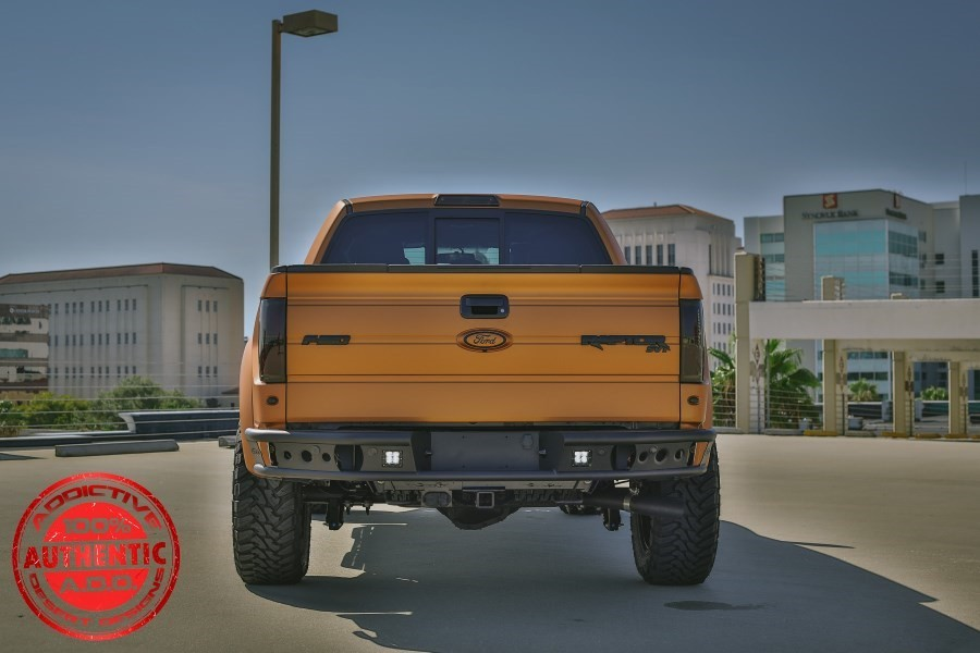 Addictive Desert Designs F-150/Raptor Dimple R Rear Bumper w/ Backup Sensor Cutout (2009-2014)