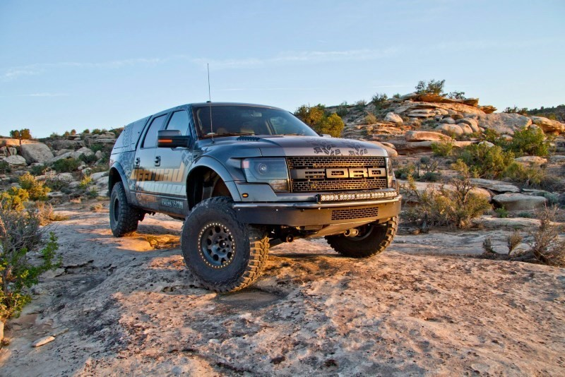 Addictive Desert Designs Raptor Race Series-R Front Bumper w/ Plastic Valence & Cube Mounts (2010-2014)