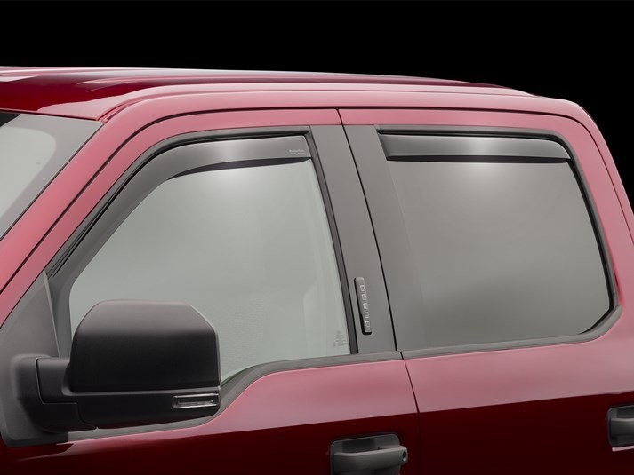 WeatherTech Front & Rear Dark Smoke Side Window Deflectors SuperCrew F-250 (2017-2019)