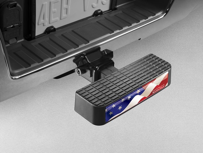 WeatherTech USA Waving Flag Bumper step / Bumper Protector Black F Series Truck & Explorer