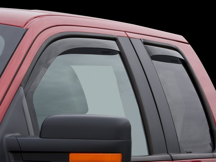 WeatherTech Front & Rear Dark Smoke Side Window Deflectors SuperCab F-150 (2009-2014)