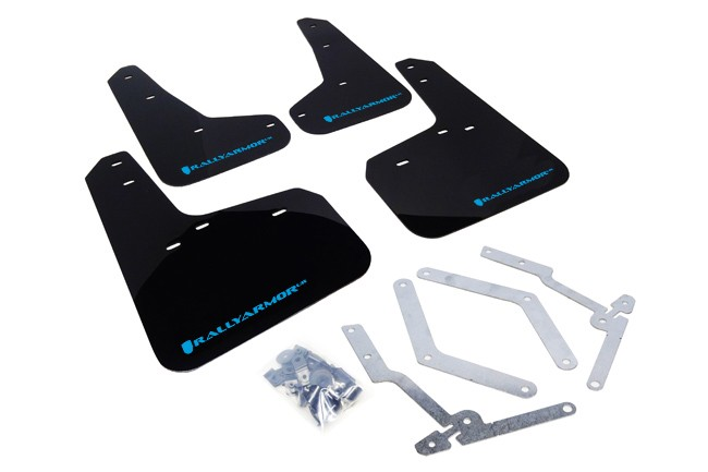 Rally Armor Mud Flap Set Black w/ Nitrous Blue Logo Set Focus ST 2013-2018 / Focus RS 2016-2018