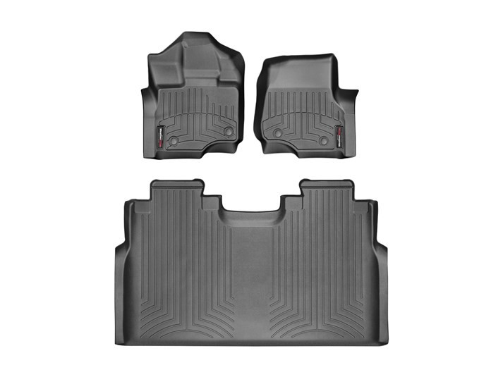 WeatherTech F-150 Super Crew w/ Front & Bench Rear Floor Liner Set (2015-2021)