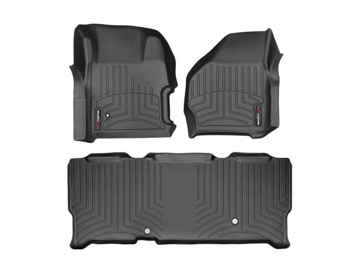 WeatherTech Superduty Super Cab w/ Front & Rear Floor Liner Set With 4x4 Floor Shifter (1999-2007)