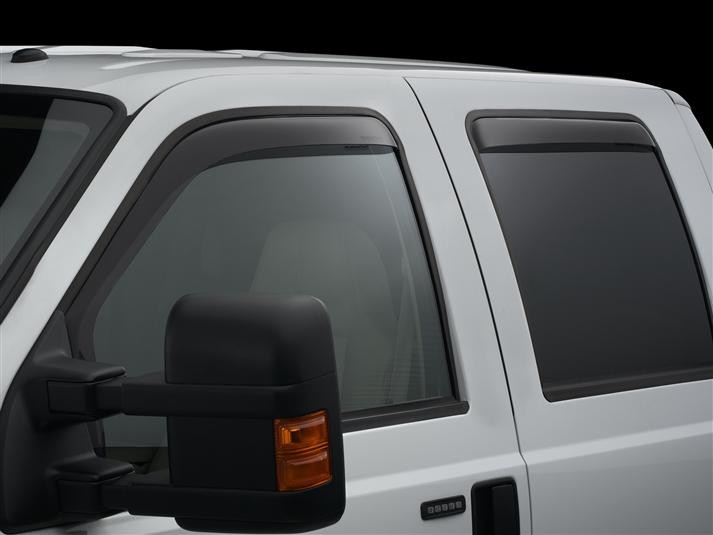 WeatherTech Front & Rear Dark Smoke Side Window Deflectors CrewCab SuperDuty (2009-2016)