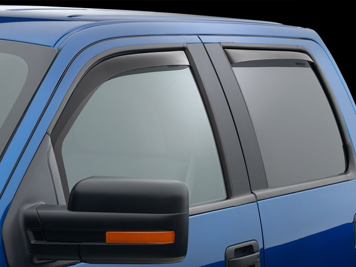 WeatherTech Front & Rear Dark Smoke Side Window Deflectors CrewCab F-150 (2009-2014)