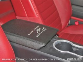 Scott Drake Mustang Console Pad Cover With Mustang Logo Black (05-09)