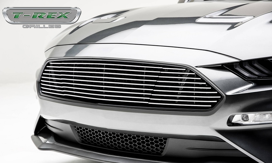 T-Rex Grilles Mustang GT - Billet Grille - Main, Overlay with Black Powder Coated Finish and Polished Face (2018-2021)