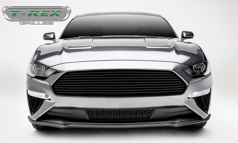 T-Rex Grilles Mustang GT - Billet Grille - Main, Overlay with Black Powder Coated Finish (2018-2020)
