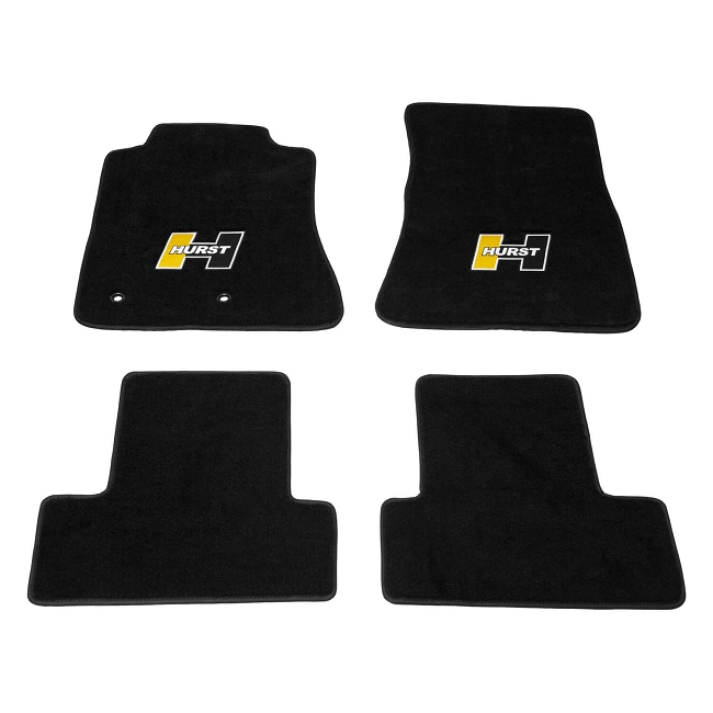 Hurst Mustang Elite Series Gold Logo Floor Mat Set (2015-2020)