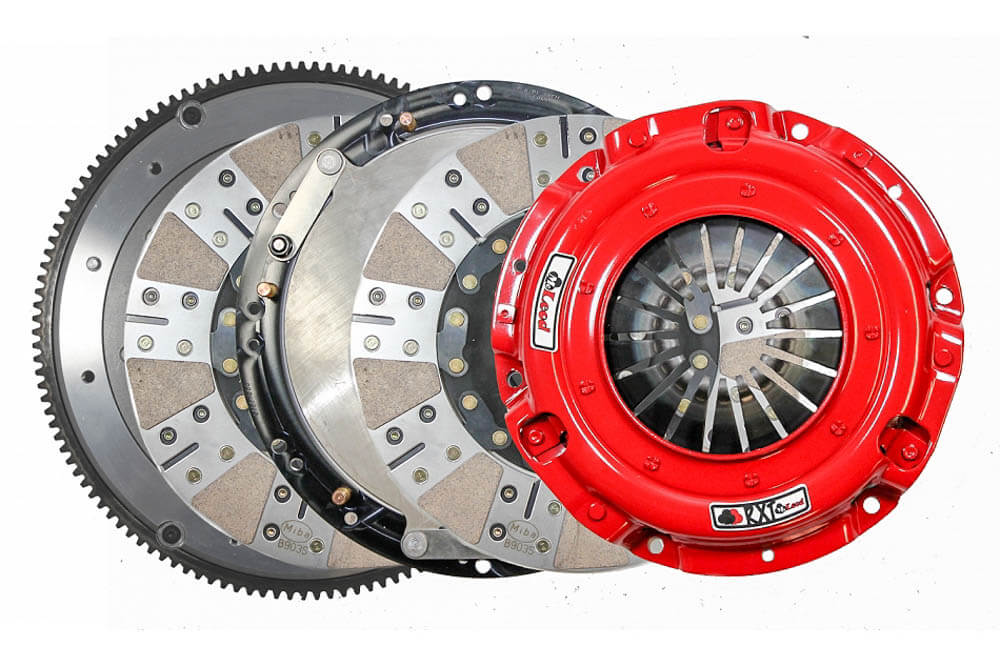 McLeod Mustang Cobra/GT500 RXT Twin Disc Clutch Kit w/ Aluminum Flywheel - 26 Spline (1996-2004/2007-2017)