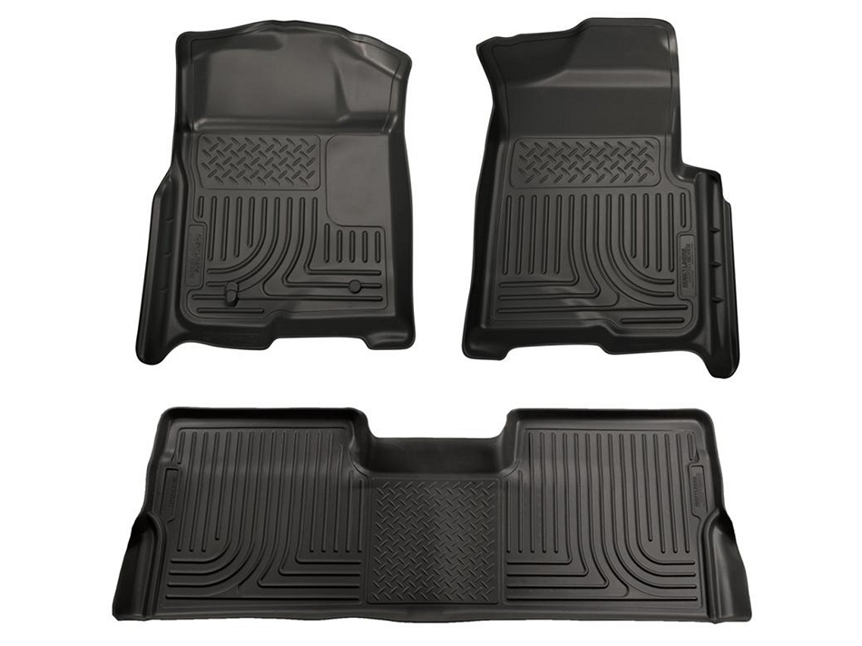 Husky Liners F-150 SuperCrew WeatherBeater Combo Black Floor Liners (2009-2014)
