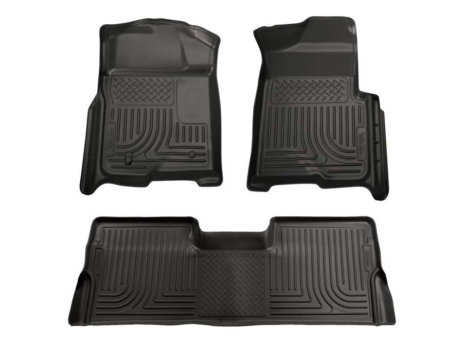 Husky Liners F-250/F-350 SuperCrew Automatic WeatherBeater Combo Black Floor Liners (2008-2010)