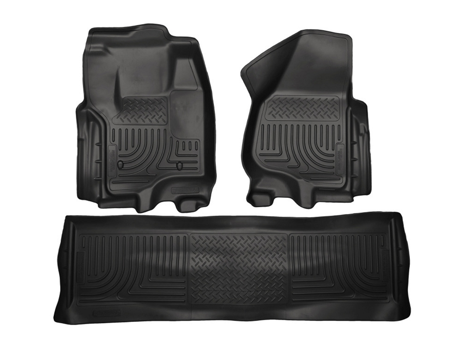 Husky Liners WeatherBeater Combo Black Floor Liners (12-16 F-250 / F-350 / F-450 / F-550 Automatic)