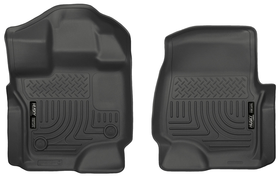 Husky Liners F-150 WeatherBeater Black Front Floor Liners (15-17 SuperCrew / SuperCab)