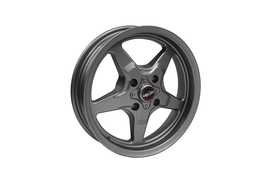 Race Star Mustang 91 Drag Star Metallic Gray Wheel - 15x3.75 (1987- 1993)
