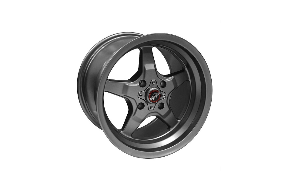 Race Star Mustang 91 Drag Star Metallic Gray Wheel - 15x8 (1987- 1993)