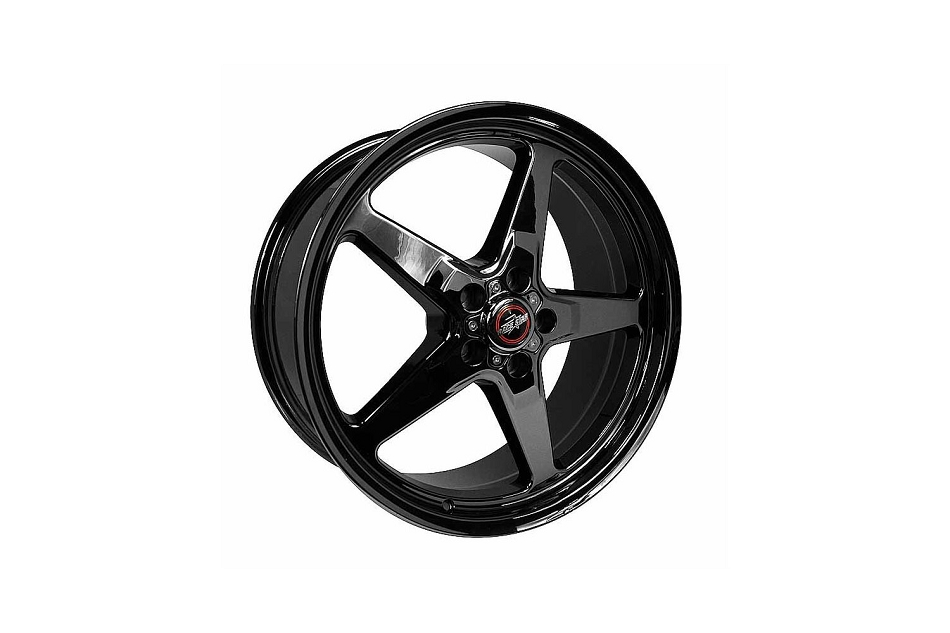 Race Star Wheels Mustang 92 Drag Star Dark Star Black Chrome Wheel 20x9