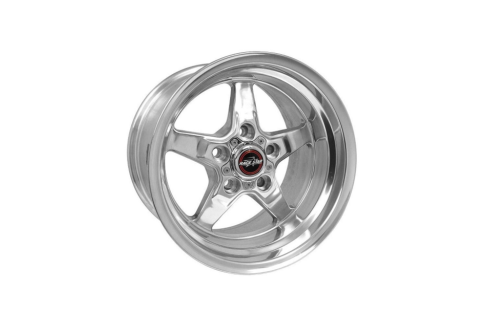 Race Star Mustang 92 Drag Star Polished Wheel - 15x10 (1979-2004)