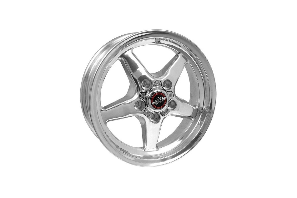 Race Star Mustang 92 Drag Star Polished Wheel - 15x5 (1979-2014)