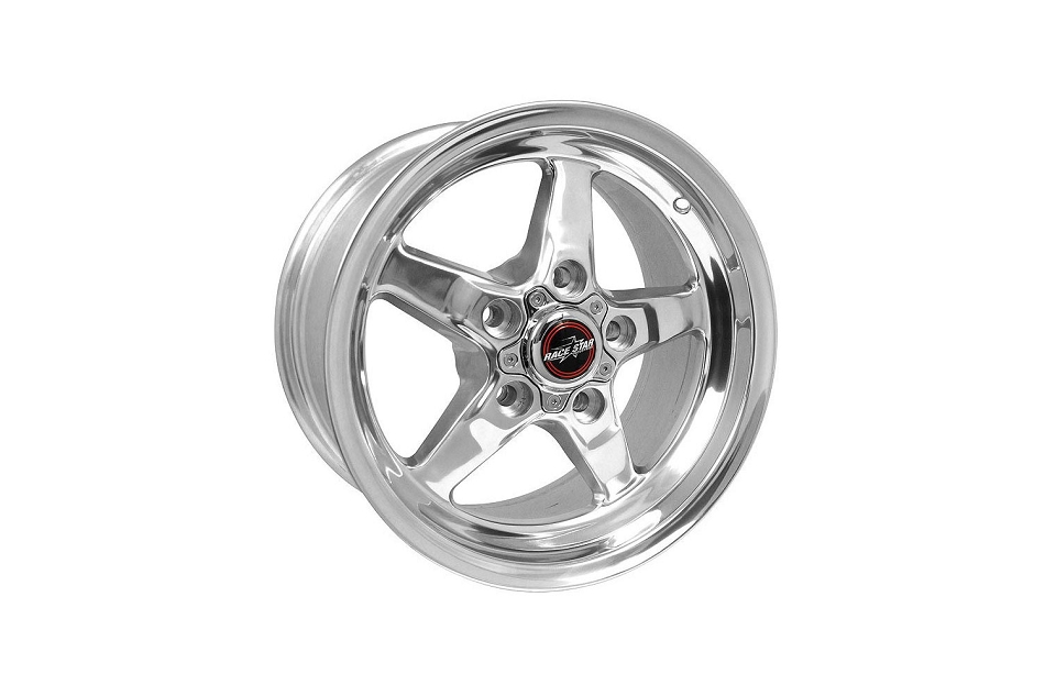 Race Star Mustang 92 Drag Star Polished Wheel - 15x8 (1979-2014)