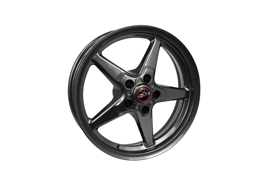 Race Star Wheels Mustang 92 Drag Star Bracket Racer Metallic Gray 17x4.5
