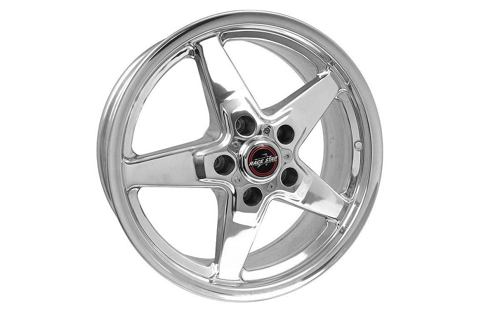Race Star Ford Mustang 17x7 92 Drag Star Polished Wheel (1979-2019)