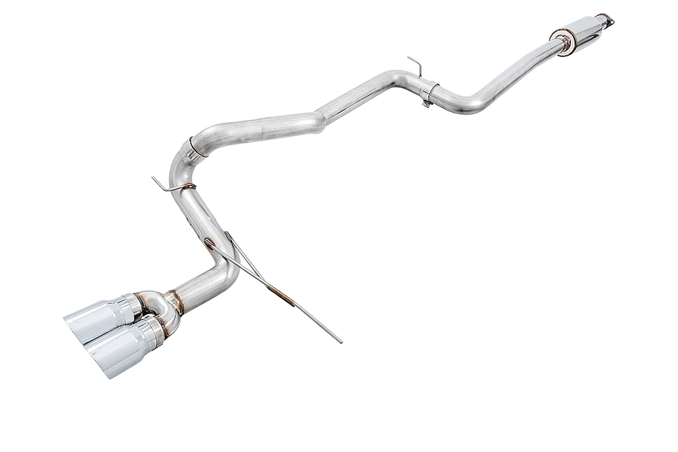 AWE Focus ST Track Edition Cat-back Exhaust - Chrome Silver Tips (2013-2018)