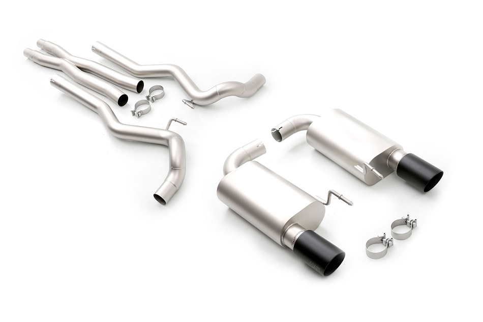 LTH Mustang GT Cat-Back Exhaust, Black Tips (2015-2017)