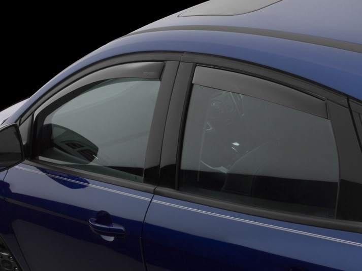 WeatherTech Ford Focus Front and Rear Window Deflectors Dark Smoke (2012-2019)
