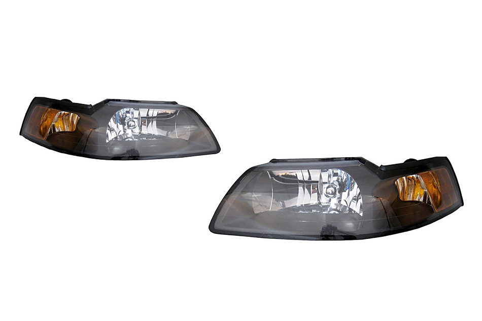 Mustang Headlights - Clear w/ Black Housing (1999-2004)