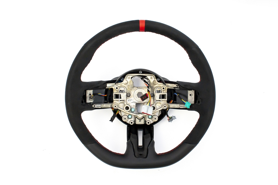 Ford Mustang GT350R Alcantara Steering Wheel with Red Sightline (2015-2017)