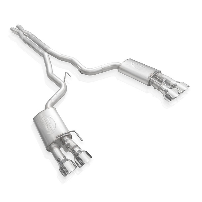 Stainless Works GT500 Legend X-Pipe Cat-Back - Polished (2020-2021)