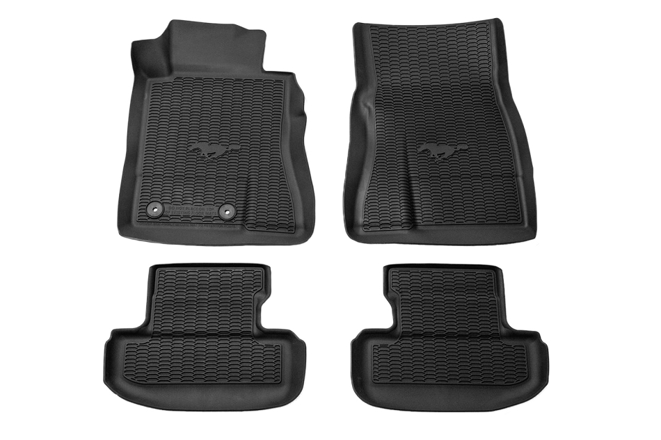 Ford Mustang All-Weather Floor Liners w/ Pony Logo (2015-2021)