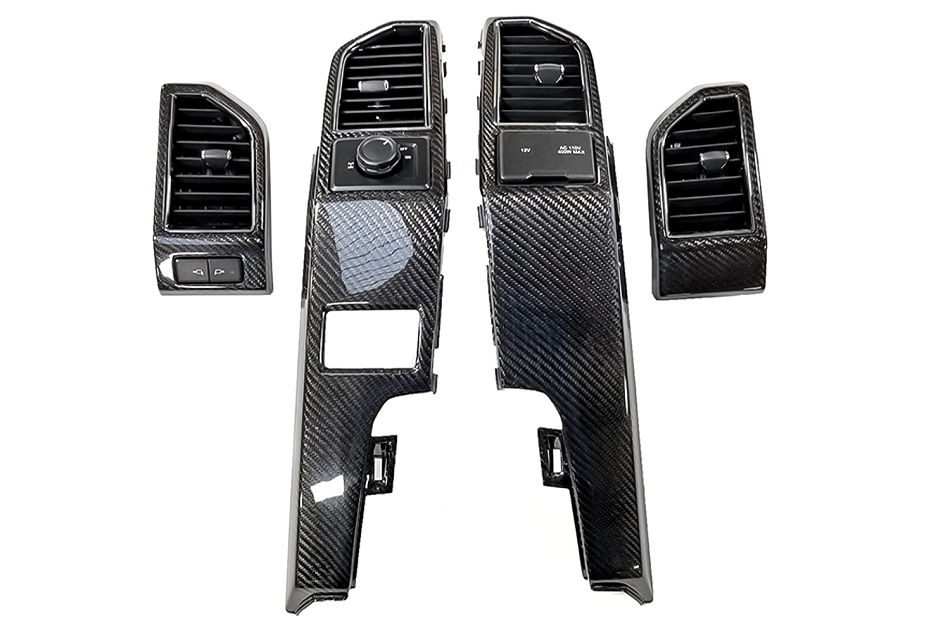California Pony Cars F-Series Carbon Fiber 4 pc. Dash Air Vent Bezel Kit (2015-2019)