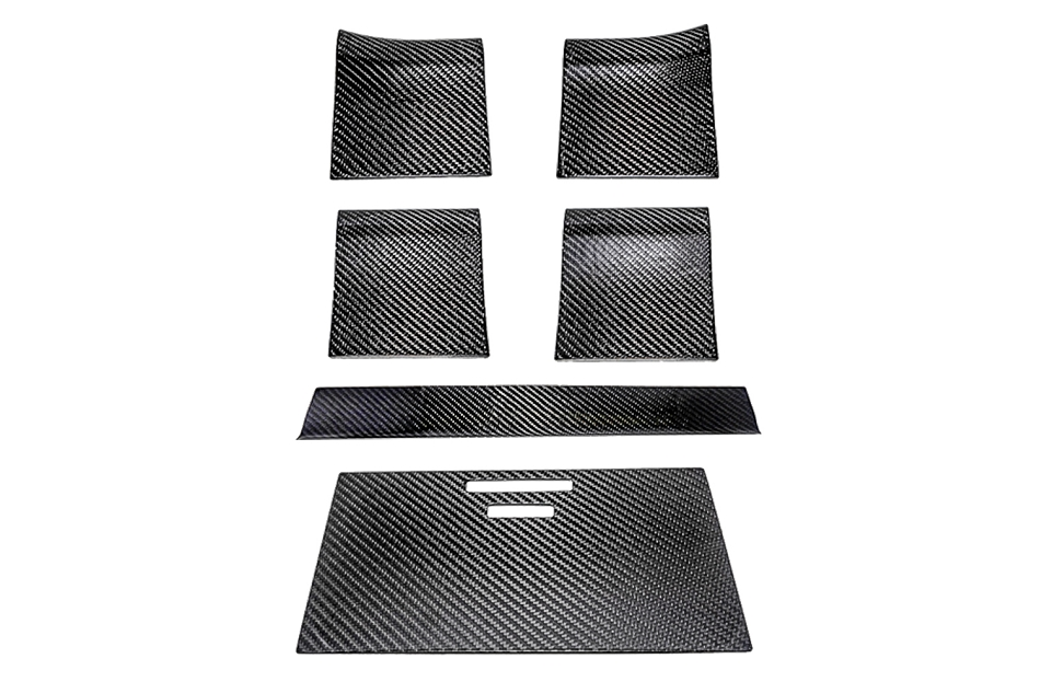 California Pony Cars F-Series Carbon Fiber Wood Grain Delete 6 pc. Kit (2015-2019)