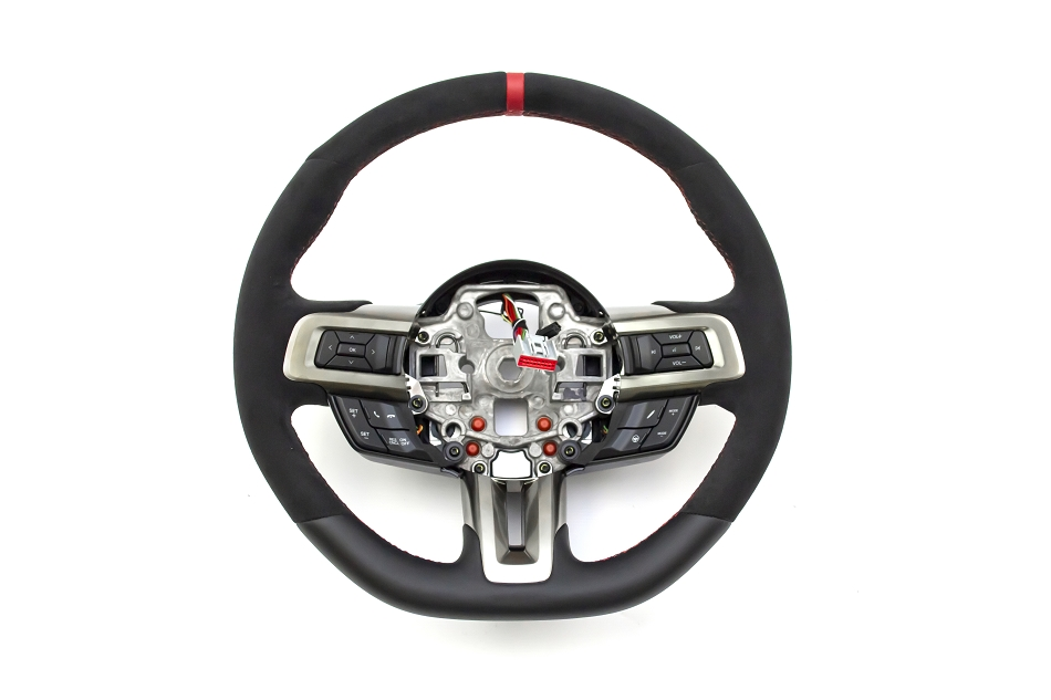 Ford Mustang GT350R Alcantara Steering Wheel with Red Sightline (2018-2020)