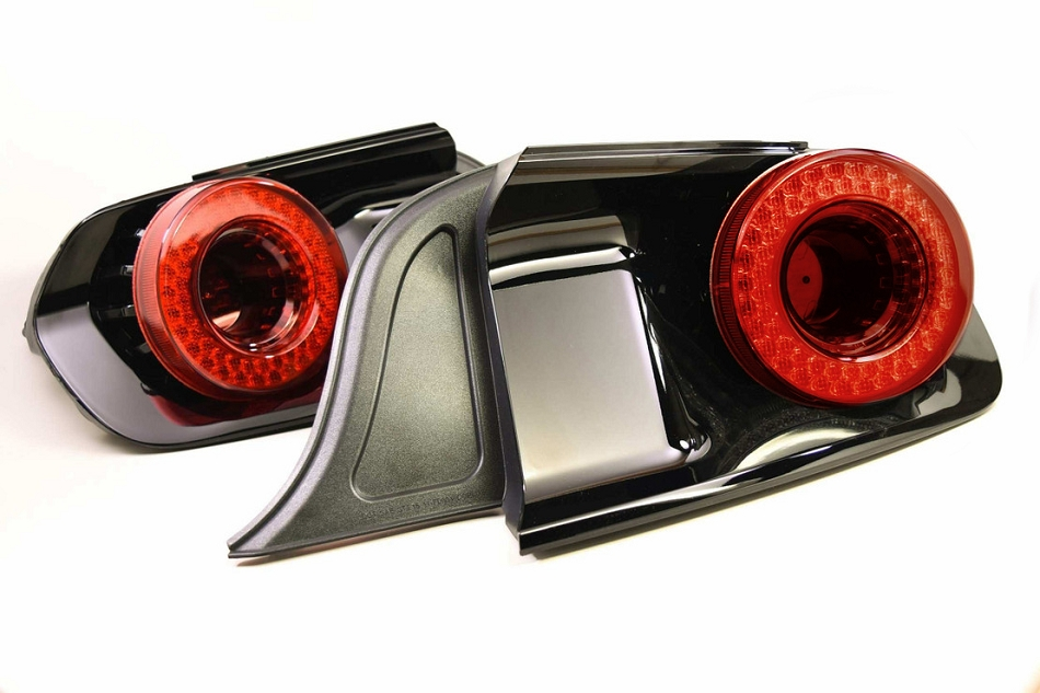 Morimoto Mustang XB LED Halo Tail Lights - Red (2015-2021)