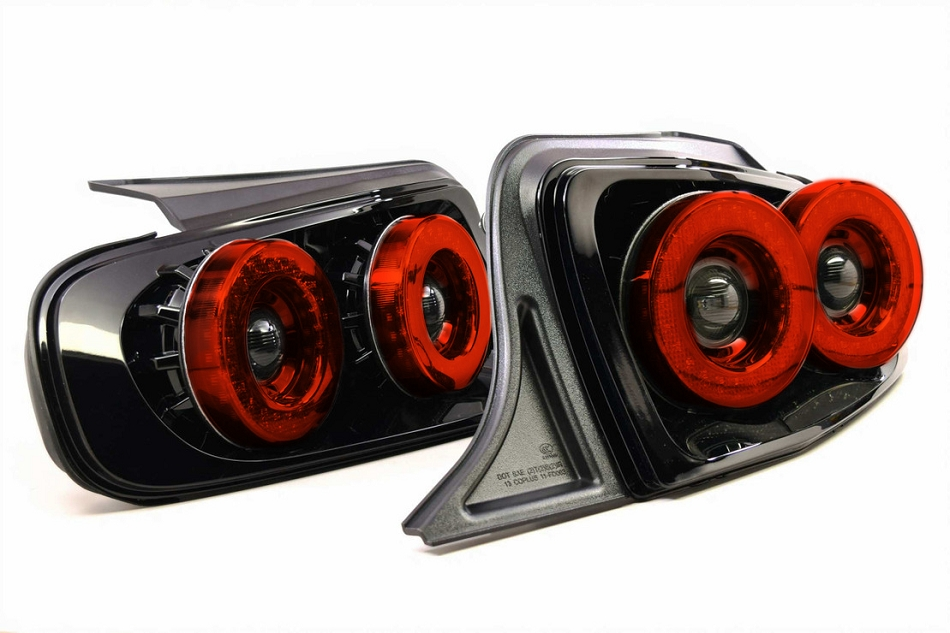 Morimoto Mustang XB LED Dual Halo Tail Lights - Red (2013-2014)