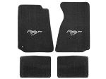Lloyd Mats Mustang Grey Floor Mats w/ Pony Logo (94-00 Coupe/99-00 Convertible)