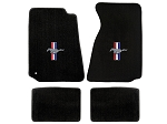 Lloyd Mats Mustang Black Floor Mats w/ Tri-Bar Pony Logo (94-00 Coupe/99-00 Convertible)