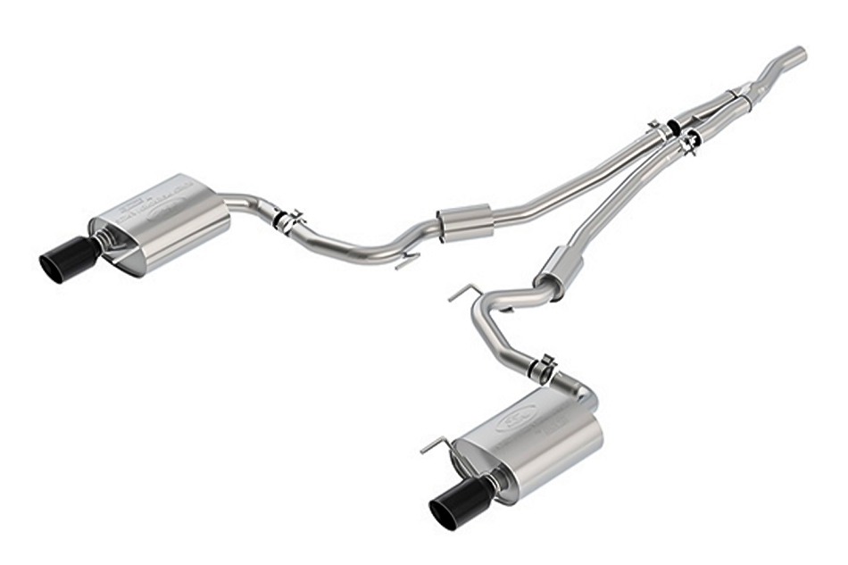Ford Performance Mustang 2.3L Ecoboost Sport Cat-Back Exhaust System - Black Tips (2015-2021)
