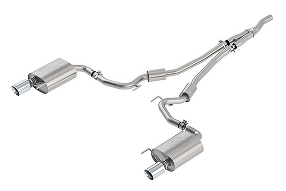 Ford Performance Mustang 2.3L Ecoboost Sport Cat-Back Exhaust System - Chrome Tips (2015-2021)