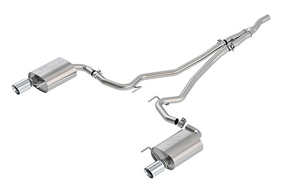 Ford Performance Mustang 2.3L Ecoboost Touring Cat-Back Exhaust System - Chrome Tips (2015-2021)
