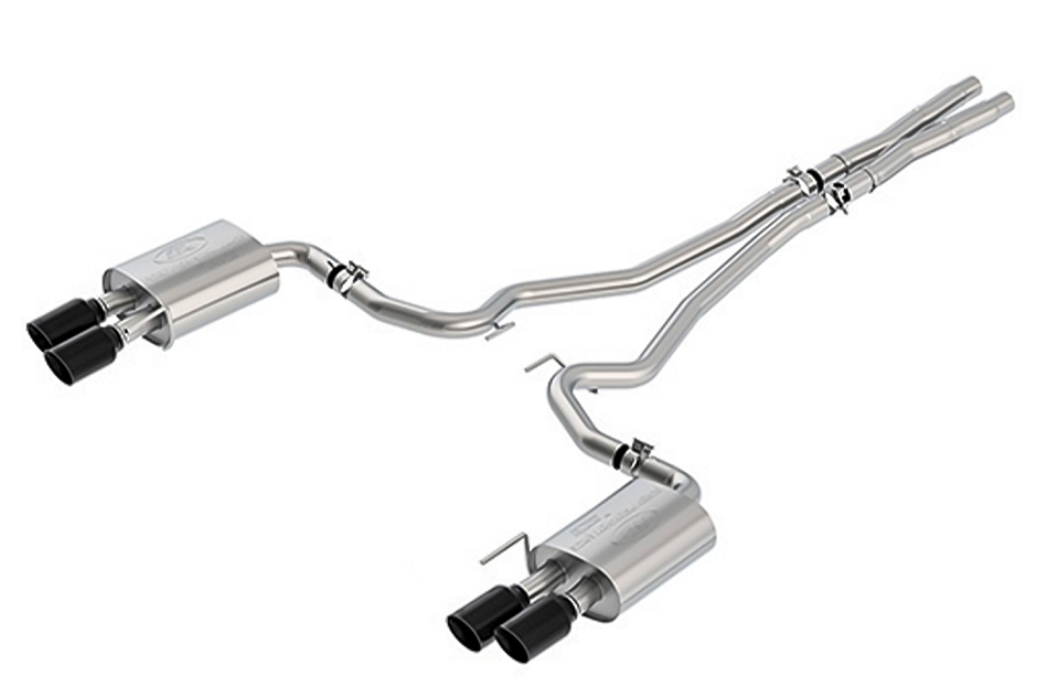 Ford Performance Mustang GT Sport Cat-Back Exhaust System - Black Tips (2018-2021)
